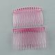 Fornituras de peines de plástico, rosa reluciente, 46x70mm