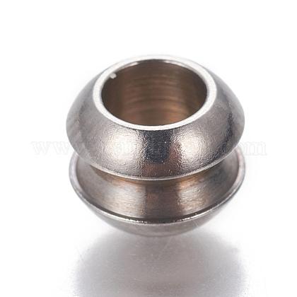 304 Stainless Steel European BeadsSTAS-P239-13P-1