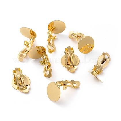 Brass Clip-on Earring Cabochon SettingKK-J184-04G-1