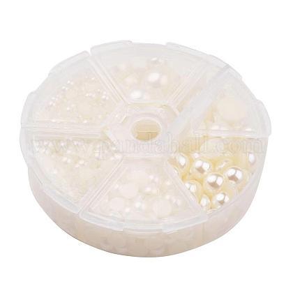 1箱のabsプラスチック製パール調ドームカボションSACR-X0002-24-B-1