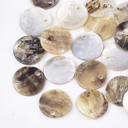 Natural Akoya Shell CharmsSHEL-T012-42B-1