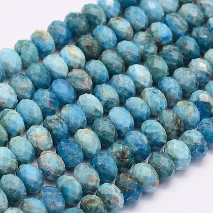 Natural Apatite Beads StrandsG-F509-55-4x6mm-1