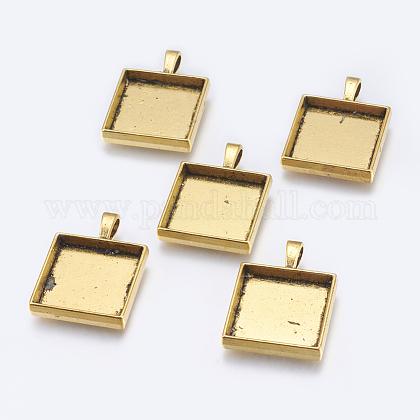 チベット風カボションセッティングペンダントTIBEP-A123359-AG-FF-1
