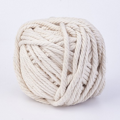 Cotton String Threads for Jewelry Making OCOR-WH0018-B01-6mm-1