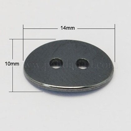 Non-Magnetic Hematite ButtonsG-S075-2-1
