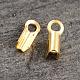 Extremos de cable de plata de ley chapados en oro de 18k realH160B-G-1