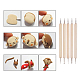 Wooden Handle Pottery Tools SetsTOOL-BC0008-11-5