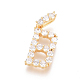 Golden Plated Brass Micro Pave Clear Cubic Zirconia PendantsZIRC-L093-01B-1