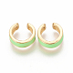Golden Plated Brass Cuff EarringsEJEW-I243-04-2