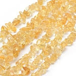 Natural Citrine Beads Strands, Grade A, Chip, 5~8mm, Hole: 0.8mm; about 16''(40.6cm)