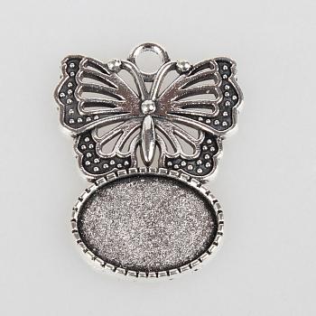 Rechteck 13x18 Edelstahl-Grad A Rhinestone-Ringmechaniken für Menschengedenken Medaillon Charms , Antik Silber Farbe, ovale Schale: 33x25x2 mm; 3 mm, Bohrung: [1] mm