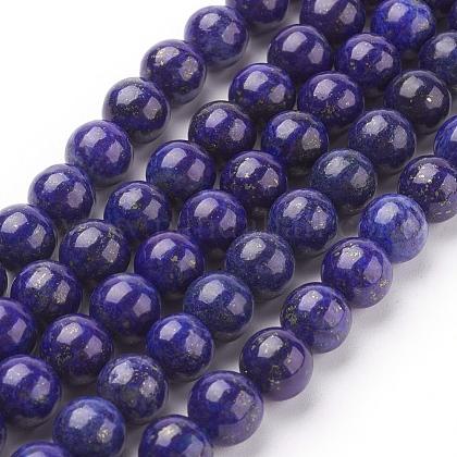 Natural Lapis Lazuli Beads StrandsG-G087-8mm-1