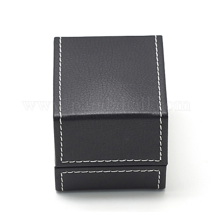 Plastic Imitation Leather Ring BoxesOBOX-Q014-25-1