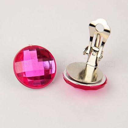 Brass Clip-on EarringsEJEW-JE00851-01-1