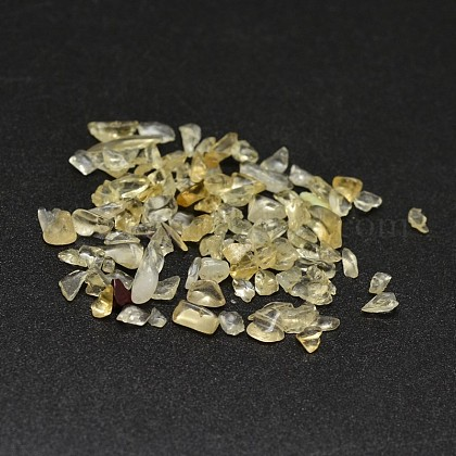 Natural Citrine Chip Beads X-G-O103-09-1