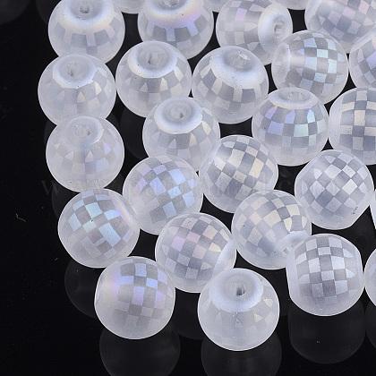 Abalorios de vidrio electroplateX-EGLA-S178-04I-1
