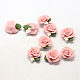 Handmade Porcelain Cabochons, China Clay Beads, Flower, Pink, 23~25x20.5~21x10~11mm