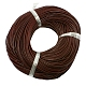 Leather Beading Cord, Cowhide Leather, DIY Necklace Making Material, Chocolate, 3mm, about 5m/strand