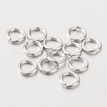 Sterling Silver Jump Rings, Round Rings, Close but Unsoldered, Platinum, 5x0.8mm