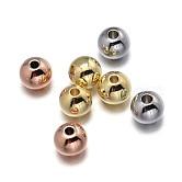 Окружающей среды медные бусины, без свинца, без никеля и без кадмия, круглые, разноцветные, 4 мм, отверстие : 1.5~2 мм
