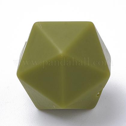 Abalorios de silicona ambiental de grado alimenticioSIL-T048-14mm-49-1