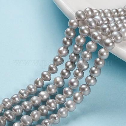 Hebras de perlas de agua dulce cultivadas naturalesPEAR-S012-74-1