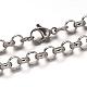 Pulseras de cadena de cable de 304 acero inoxidableBJEW-I202-02B-2