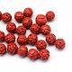 Redondo / flores cuentas cinabrio broteCARL-Q003-40-1