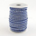 Faux Suede Cords, Faux Suede Lace, with Platinum Tone Rivet, for Punk Rock Jewelry Making, RoyalBlue, 5x2mm; about 25yards/roll(22.86m/roll)