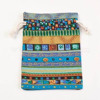 綿と麻の布梱包用ポーチABAG-WH0017-06D-1