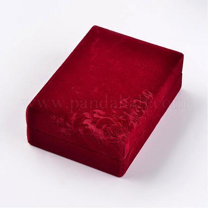 Коробки прямоугольника бархата ожерельяVBOX-D003-01-1