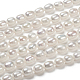 Hebras de perlas de agua dulce cultivadas naturalesPEAR-T001-06C-3