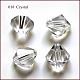 Abalorios de cristal austriaco de imitación, aaa grado, facetados, bicono, Claro, 4x4mm, agujero: 0.7~0.9 mm