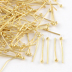 Brass Ball Head pins, Golden, 20x0.5mm, Head: 2mm; about 10000pcs/bag