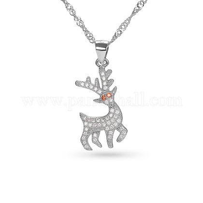 SHEGRACE® Sterling Silver Pendant NecklaceJN51A-1