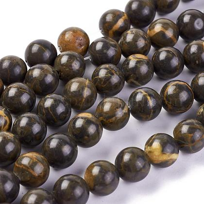 Natural Picture Jasper Beads Strands G-L501-05B-1