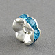 Brass Grade A Rhinestone Bead Spacers RB-S033-A-3