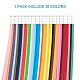 Rectangle 36 Colors Quilling Paper Strips Sets DIY-PH0008-03-3