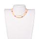 Colliers de foulard en perles de polymère faites main en pâte polymèreNJEW-JN02446-02-4