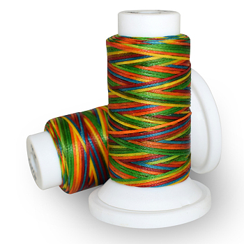 Waxed Polyester Cord, Colorful, 0.8mm; about 50m/roll