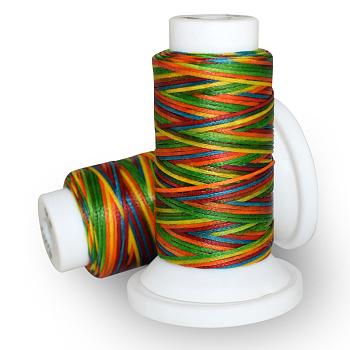 Gewachsten Polyester-Schnur, Farbig, 0.8 mm; ca. 50 m / Rolle