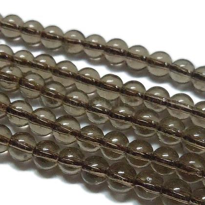 Synthetic Smoky Quartz Beads StrandsG-C076-8mm-4A-1