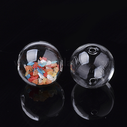 Handmade Blown Glass Globe Beads DH017J-1-10mm-1