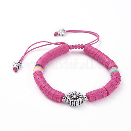 Nylon ajustable pulseras de abalorios trenzado del cordónBJEW-JB05103-02-1