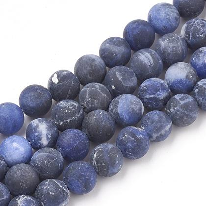 Natural Sodalite Beads StrandsG-T106-057-1