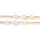 Glass Seed Beads Chain Belts NJEW-C00008-4