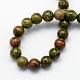 Natural Unakite Round Beads StrandsG-S175-6mm-2
