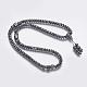 Non-magnetic Synthetic Hematite Mala Beads NecklacesNJEW-K096-11C-1