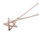 TINYSAND® Sterling Silver Star Rhinestone Pendant NecklacesTS-N264-RG-2