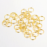 Iron Close but Unsoldered Jump Rings, Nickel Free, Golden, 21 Gauge, 5x0.7mm; Inner Diameter: 3.6mm; about 28500pcs/1000g